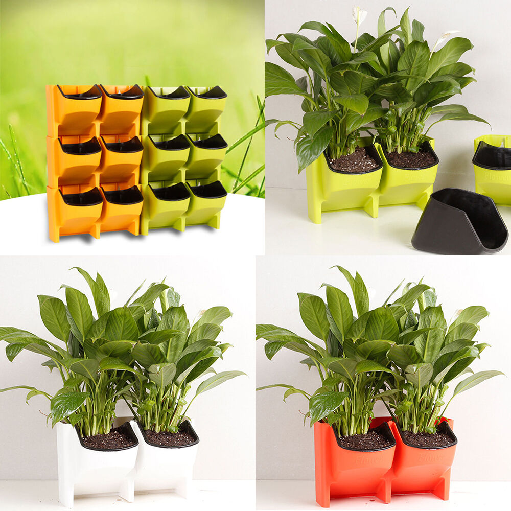 2 Pocket Stackable Hanging Garden Vertical Wall Planter