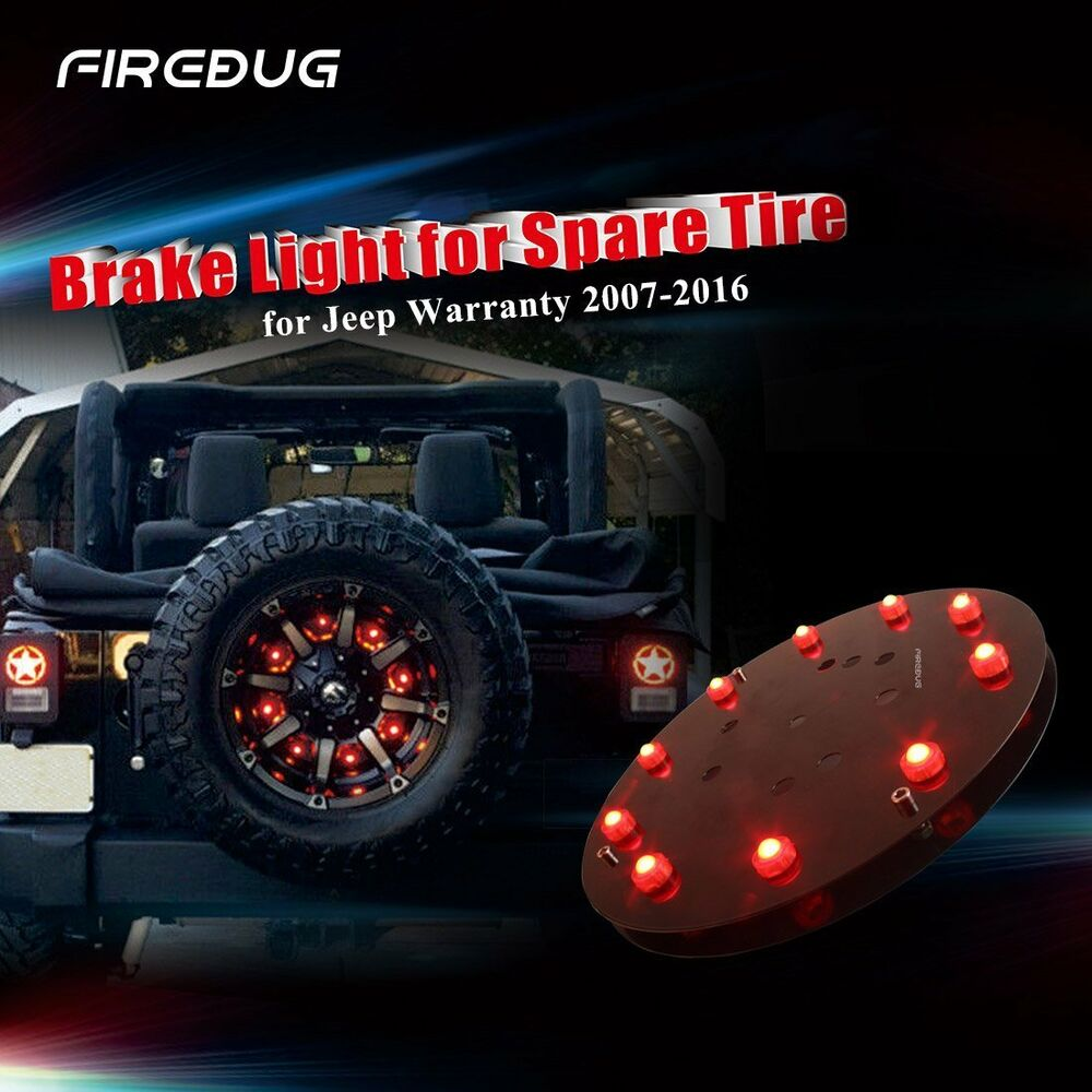 Firebug Jeep Wrangler 3rd Brake Light Spare Tire LED