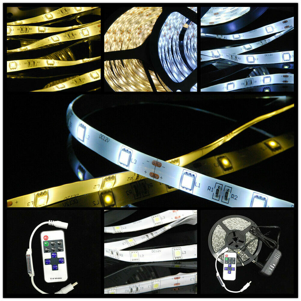 1 20m 5m led strip e set 3528 smd band leiste streifen fernbedienung netzteil ebay. Black Bedroom Furniture Sets. Home Design Ideas