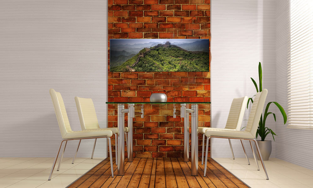 chinesische mauer panorama leinwand bild auf keilrahmen a01080 g nstige wanddeko ebay. Black Bedroom Furniture Sets. Home Design Ideas