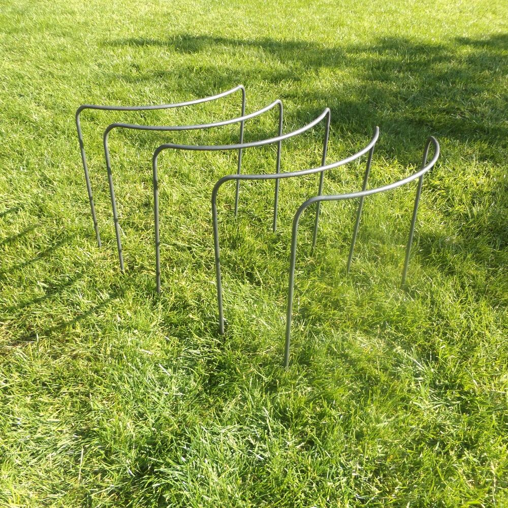 5 x handmade victorian bow style metal plant supports in. Black Bedroom Furniture Sets. Home Design Ideas