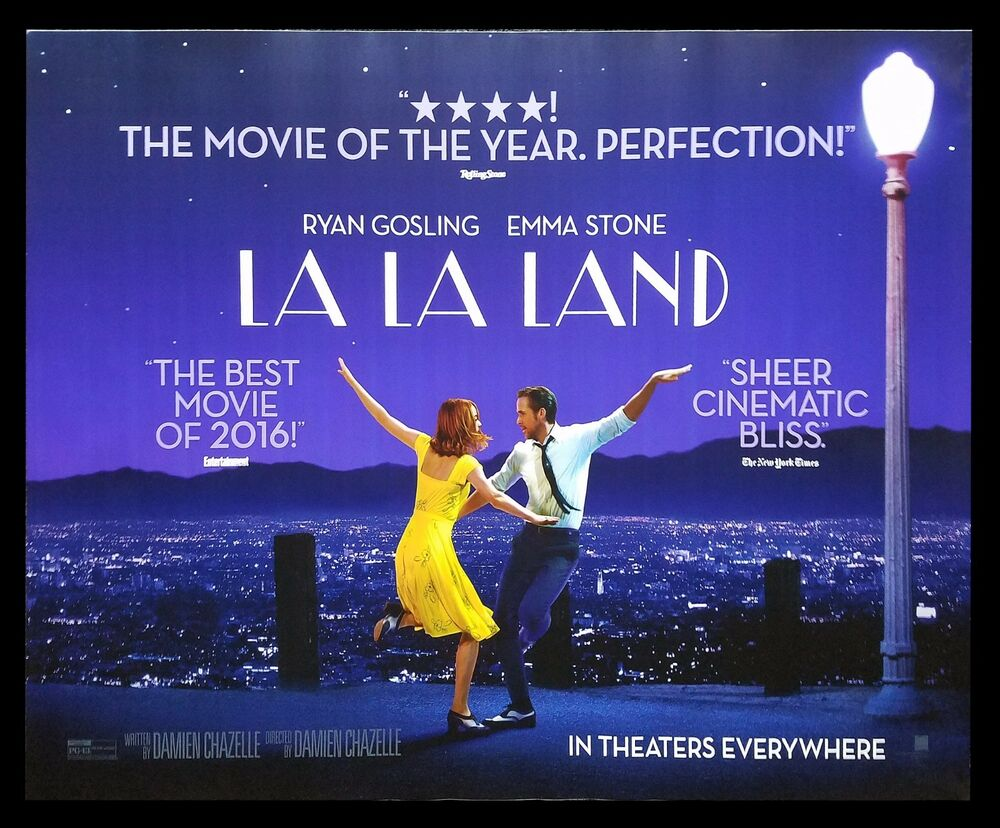 Movies 2016 Posters: LA LA LAND * CineMasterpieces ORIGINAL SUBWAY MOVIE POSTER