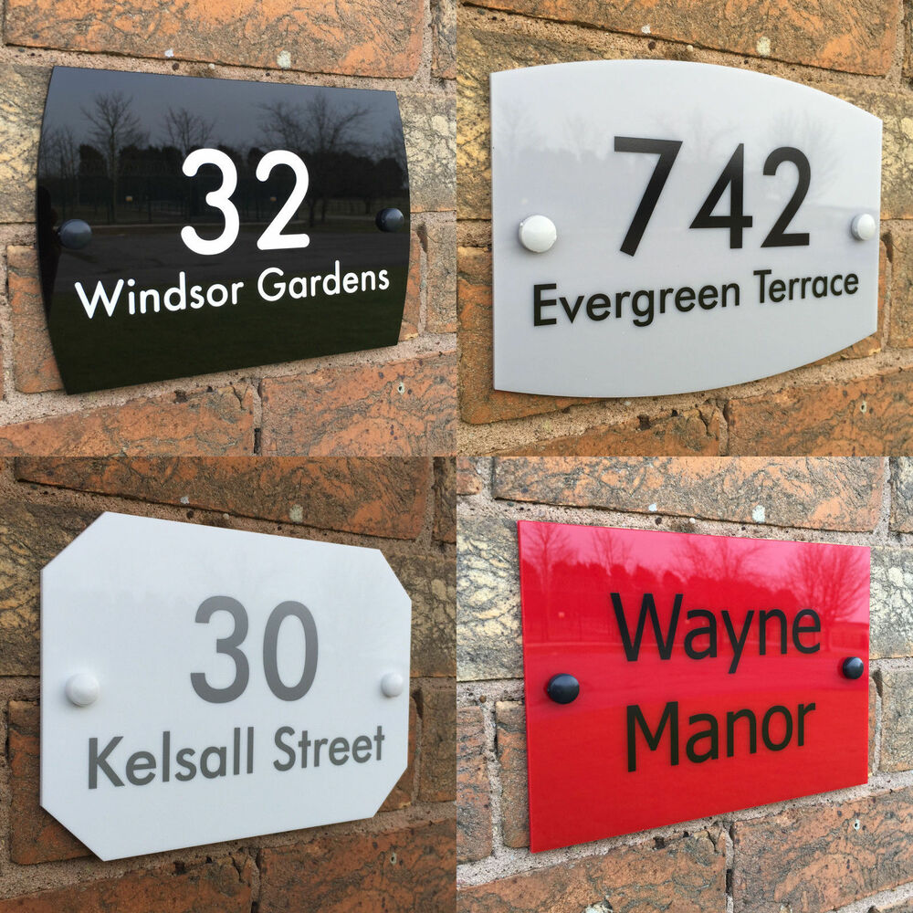 house sign plaque personalised address house door number. Black Bedroom Furniture Sets. Home Design Ideas