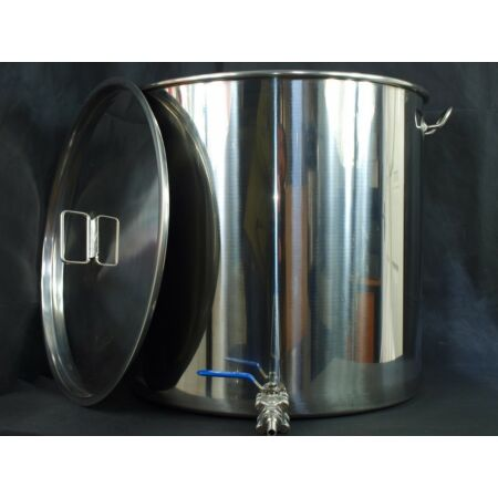img-100ltr stainless steel stockpot with tap (mash tun hlt kettle with) fermenter