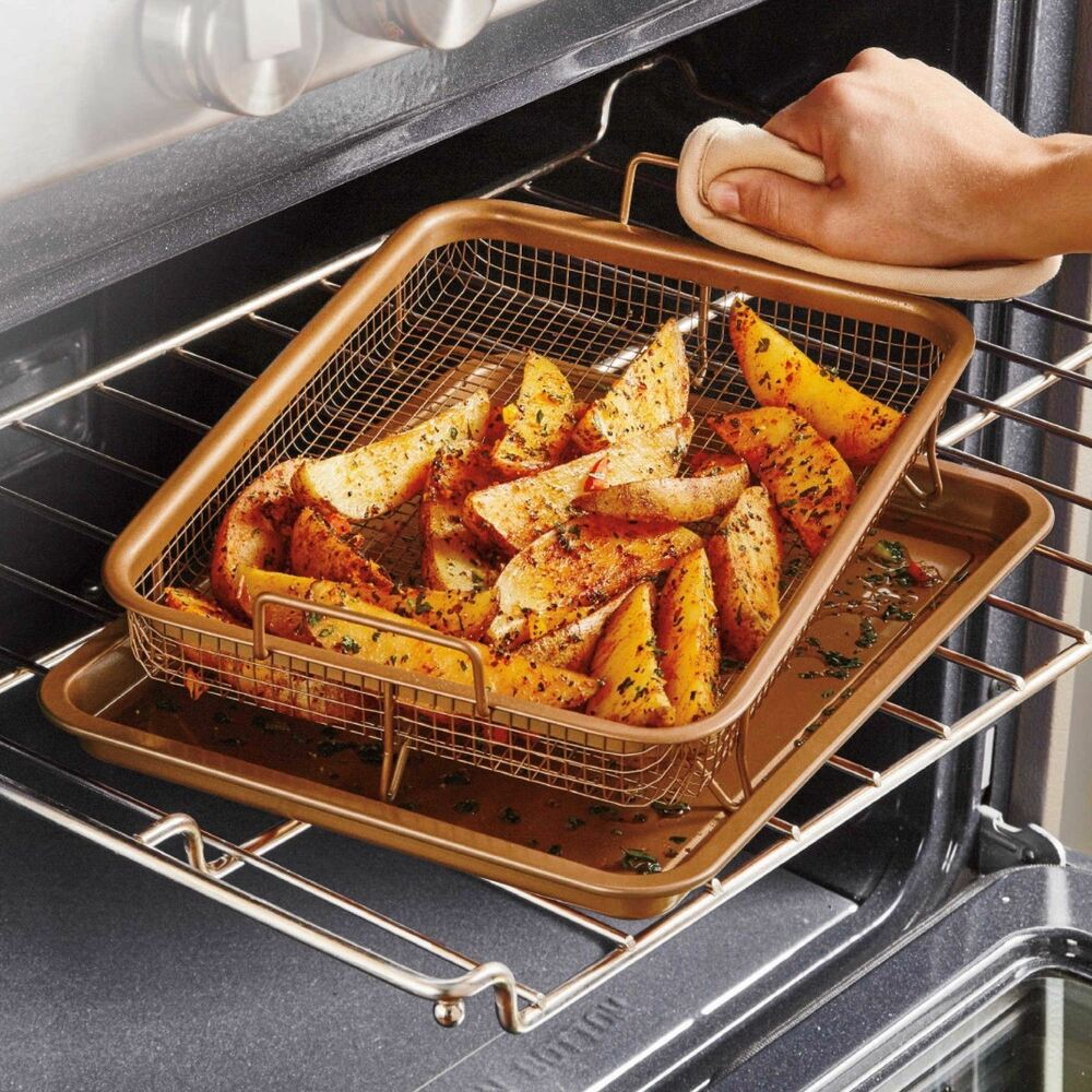 Copper Chef Crisper Tray Baking Pan Grill Ceramic Oven