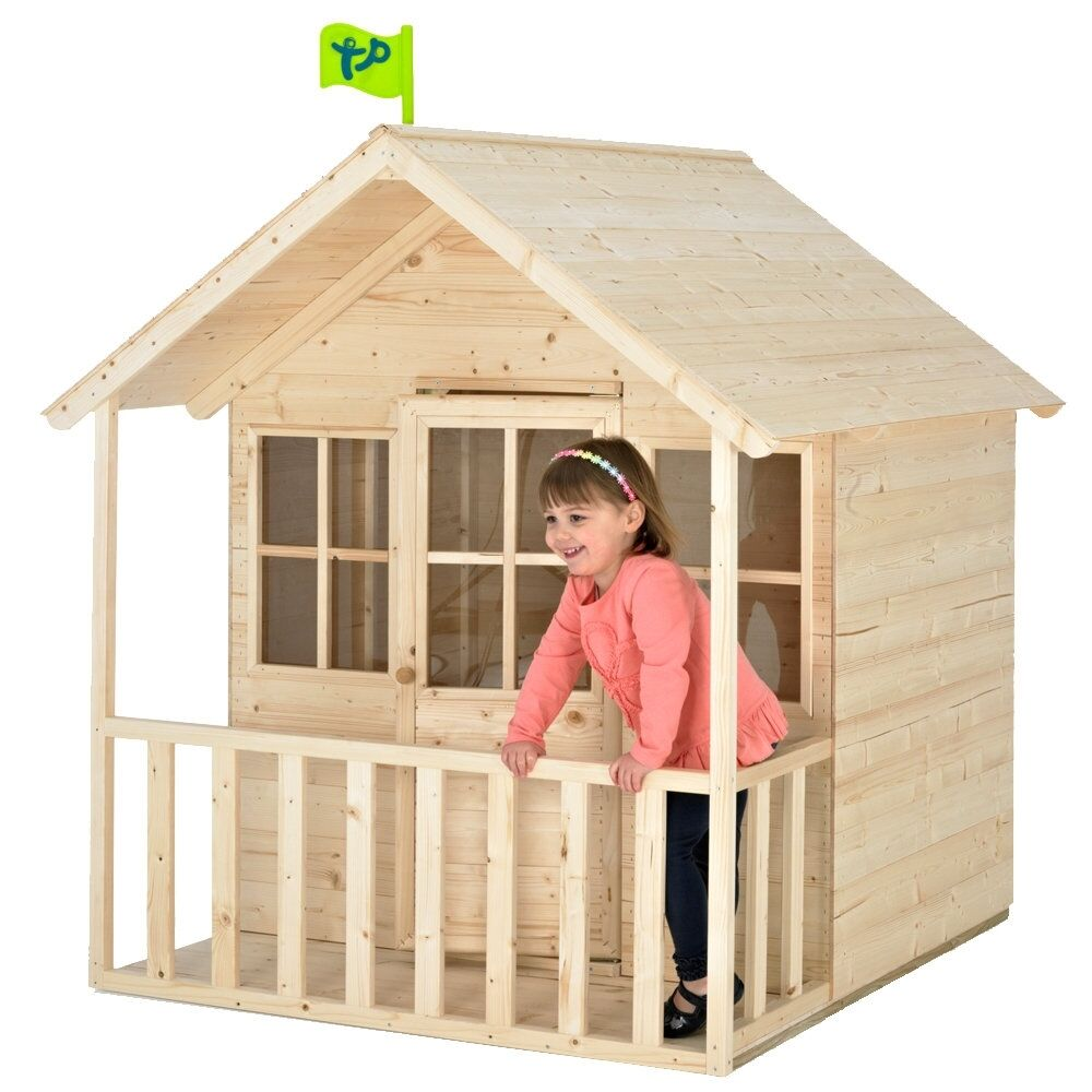 Tp summer lodge outdoor playhouse childrens garden wendy for Wooden wendy house ideas