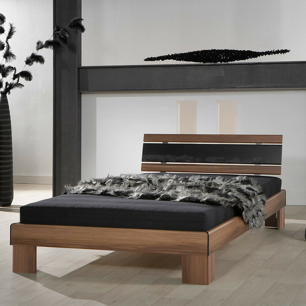 futonbett 120x200 rhone jugendbett g stebett nussbaum mit matratze und rollrost 4037619027315 ebay. Black Bedroom Furniture Sets. Home Design Ideas