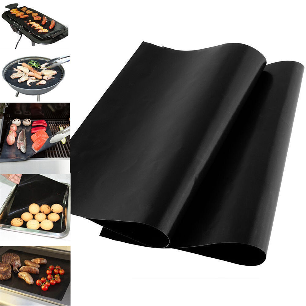 2pc Bbq Grill Mat Non Stick Bake Grilling Mats Barbecue