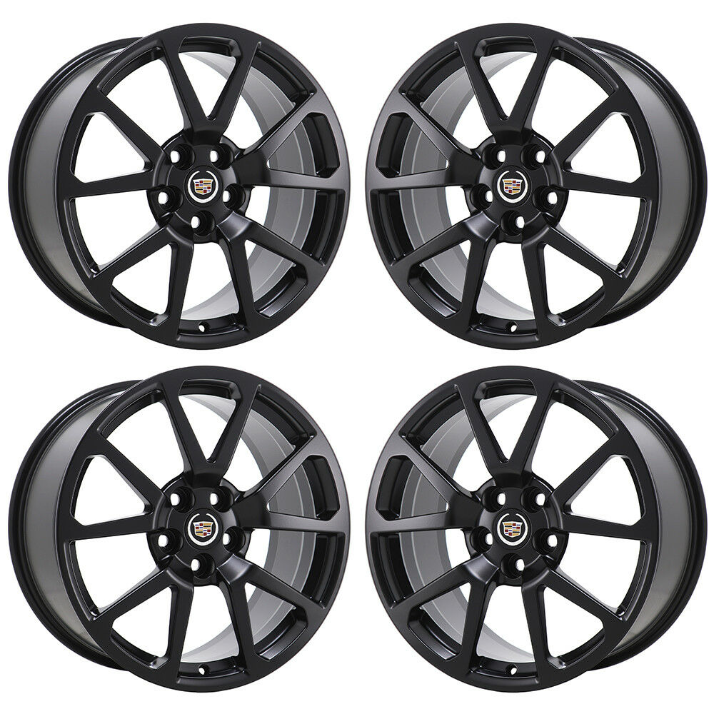 "19"" CADILLAC CTS-V SEDAN BLACK WHEELS RIMS FACTORY OEM SET"