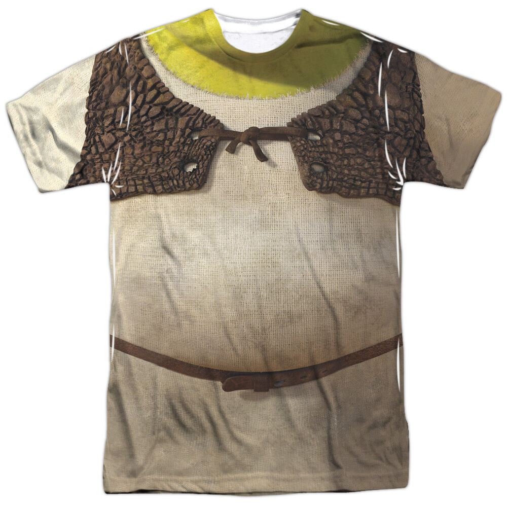 Shrek costume 1 sided sublimated big print poly t shirt ebay for Costume t shirts online
