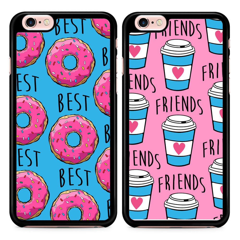 best friend iphone cases best friends donut coffee matching phone cases insta bff 9118