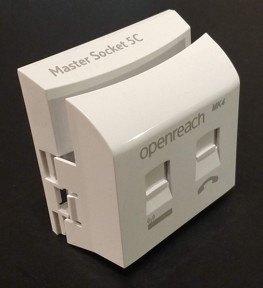Genuine Openreach Bt Master Socket Nte5c Vdsl Mk4 New 2018 Clear Circuit Diagram Phone Wiring Cams Ebay