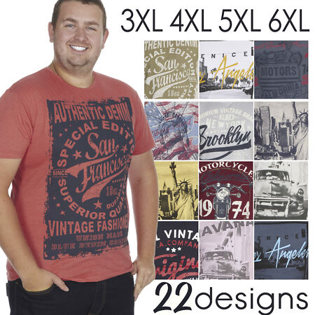 img-Mens Plus Size T-Shirt Trendy Top Summer Holiday Cotton American Printed Stylish