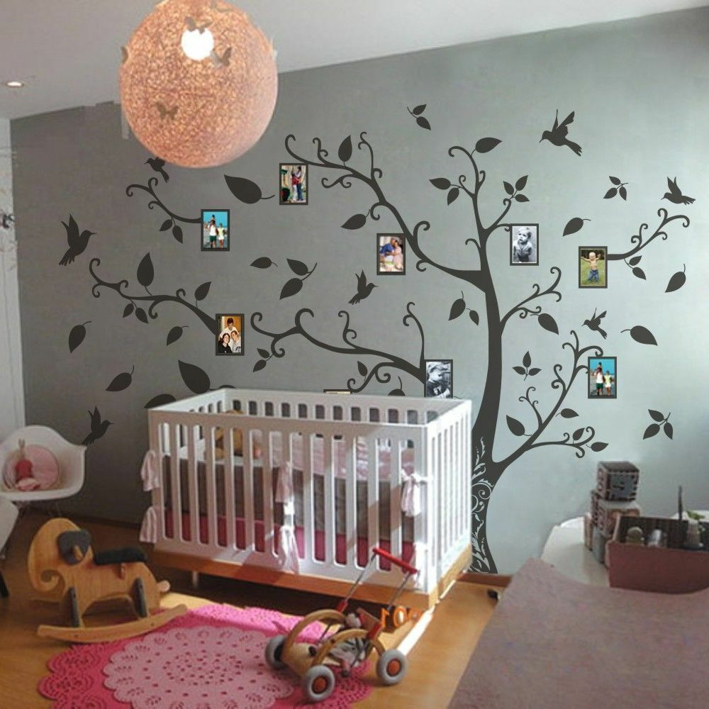 Nursery Ideas And Décor To Inspire You: Family Memory Of Tree Bird Wall Decal Inspirational Vinyl