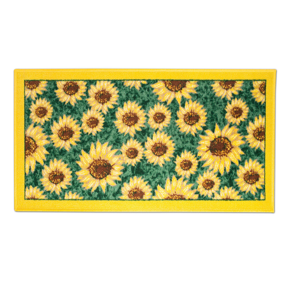 Sunflower Design 18 X 30 Rectangle Non Slip Accent Kitchen