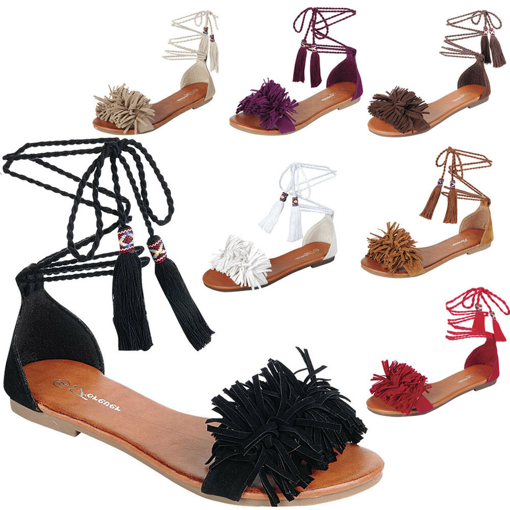 Black Tie Up Womens Shoes