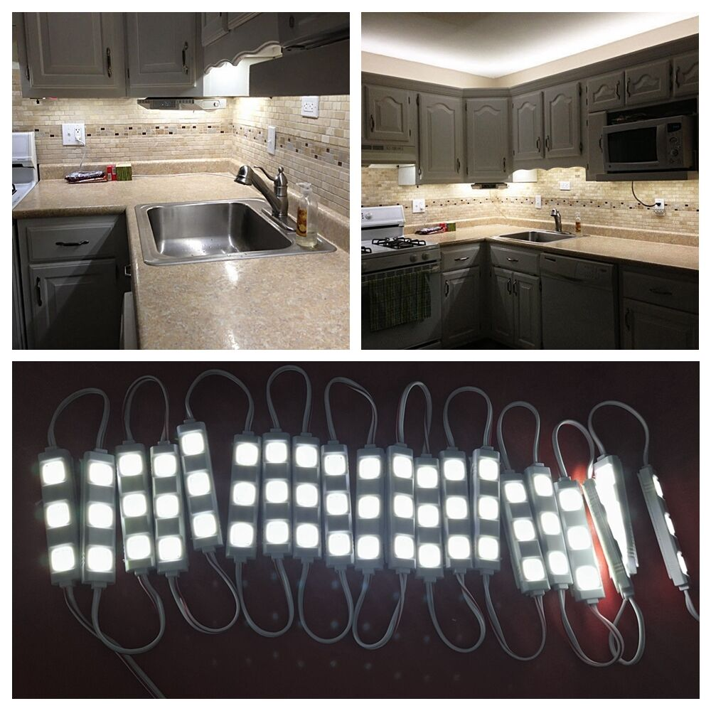 Kitchen Counter Lamps: 3M / 10ft LED Closet Kitchen Under Cabinet Counter Light Lamp (+Remote+Power)