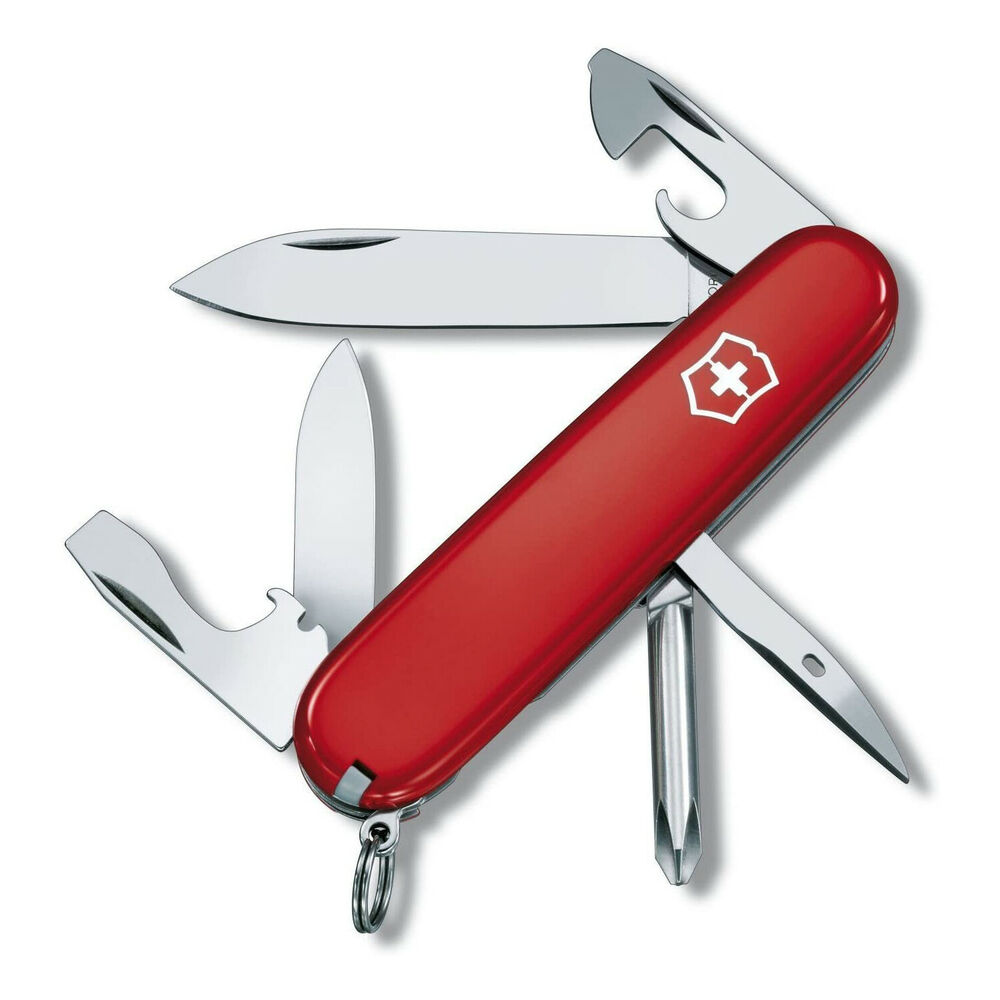 Victorinox Swiss Army Tinker Pocket Knife Red 91mm 3 58in
