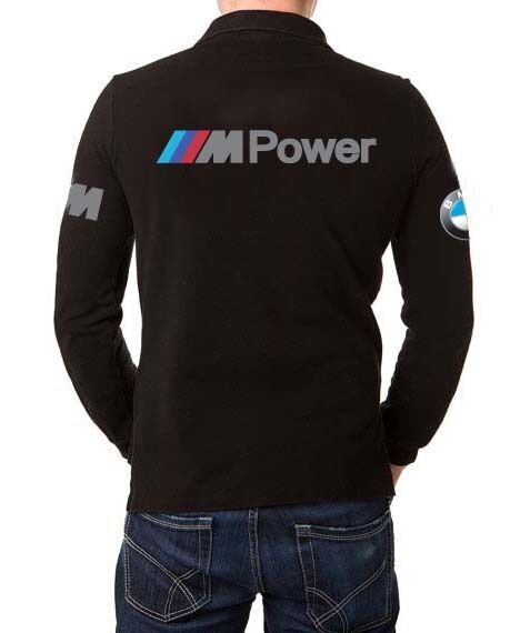 bmw m power t shirt polo cou manche longue ebay. Black Bedroom Furniture Sets. Home Design Ideas
