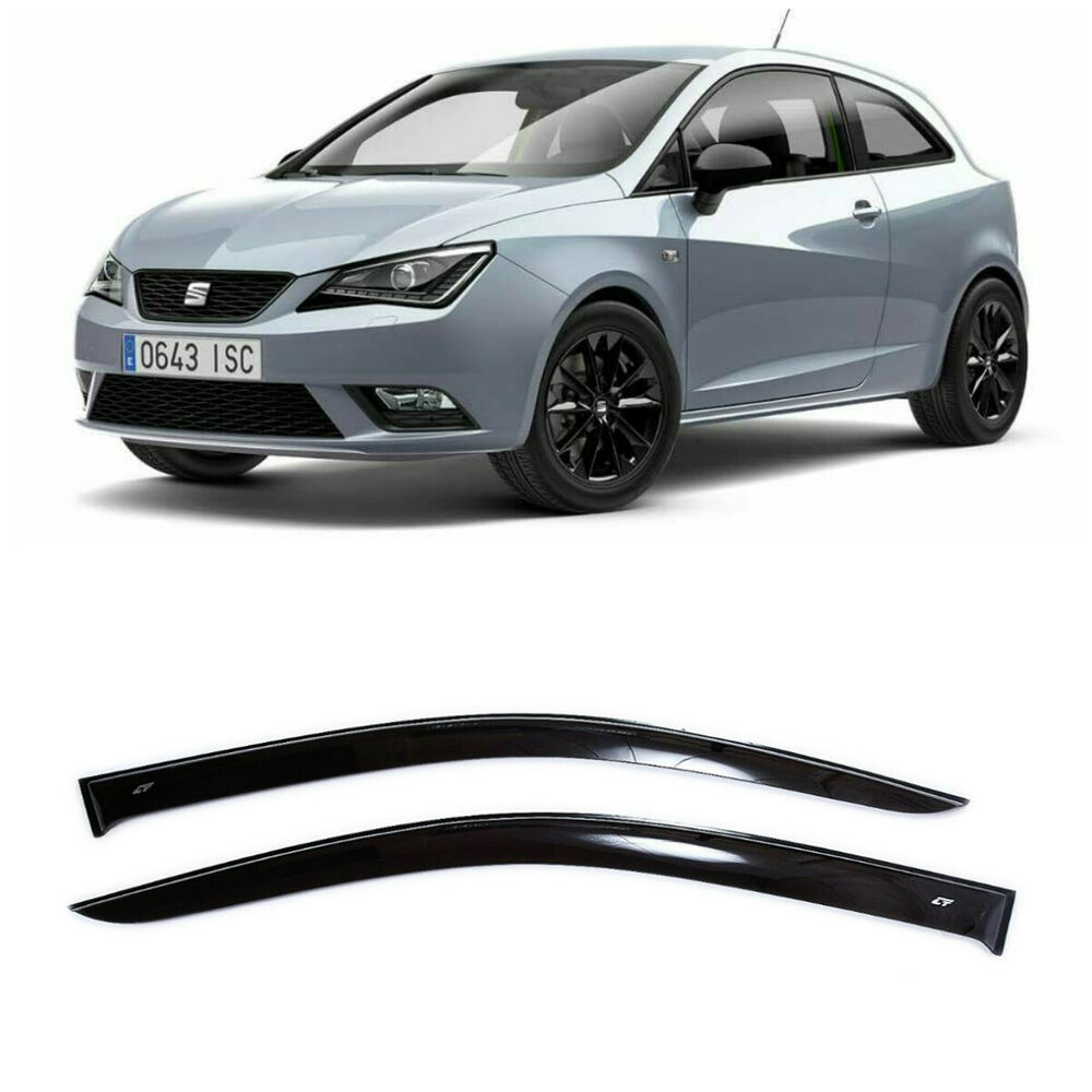 Nowość For Seat Ibiza 3d 2008-2016 Side Window Visors Sun Rain Guard Vent QU76