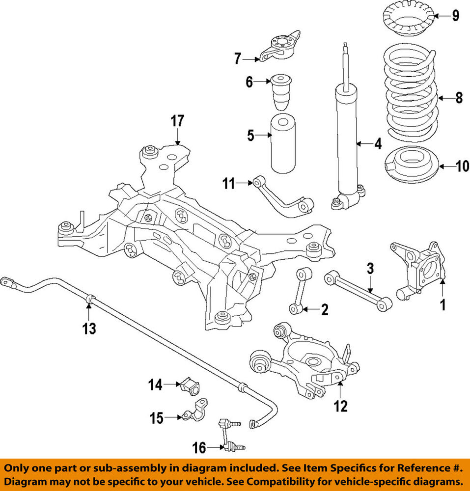 2015 Lincoln Mkz Suspension: Lincoln FORD OEM 13-16 MKZ Rear-Shock Absorber Or Strut