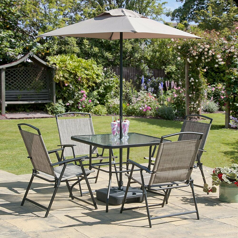 Garden Chair And Table Set On Ebay: Oasis Patio Set Outdoor Garden Furniture 7 Piece Folding