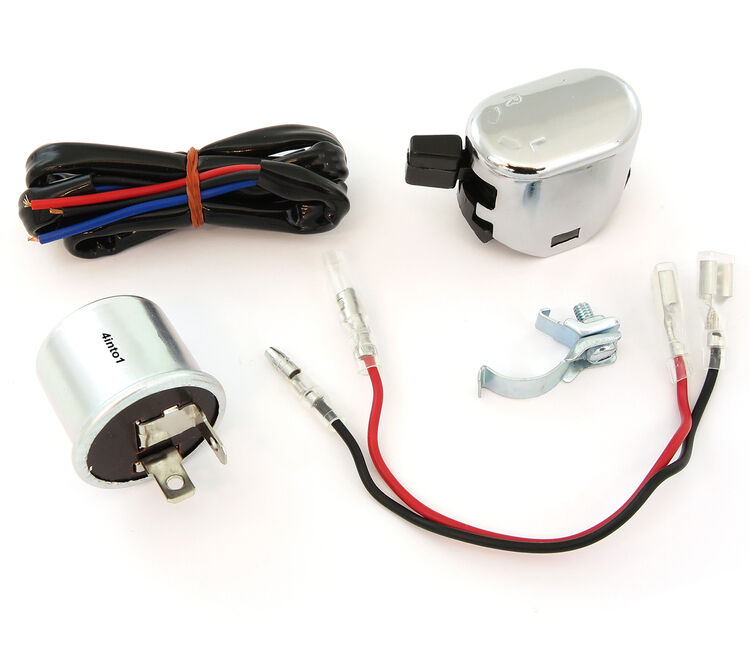 k s universal turn signal wiring kit relay wiring. Black Bedroom Furniture Sets. Home Design Ideas