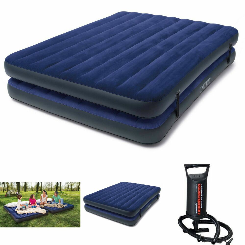 double airbed air mattress queen size intex inflatable. Black Bedroom Furniture Sets. Home Design Ideas