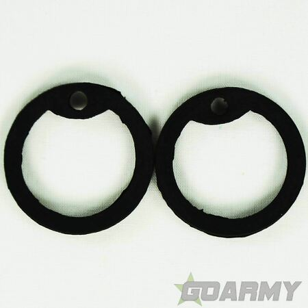 img-Mil-Tec Black Rubber Dog Tag Silencers