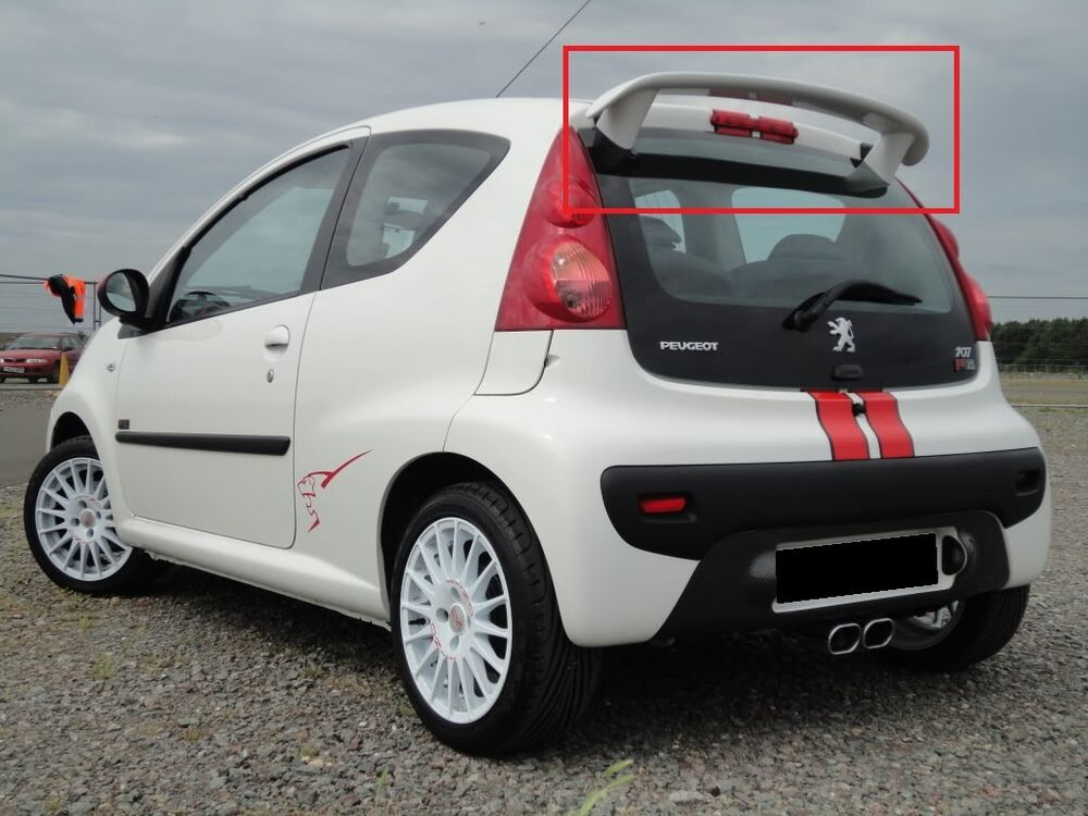 peugeot 107 citroen c1 rear roof spoiler new x line look. Black Bedroom Furniture Sets. Home Design Ideas