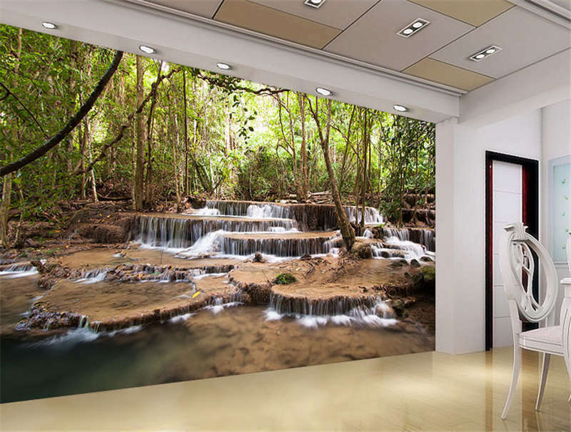 Wildlife waterfalls nature full wall mural photo wallpaper for Home wallpaper ebay