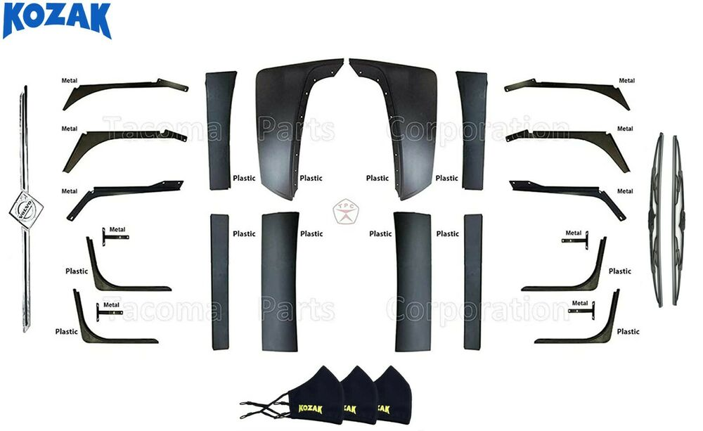 Volvo VNL Fairing Set - Air Dam + Wind Deflector + Valence | eBay