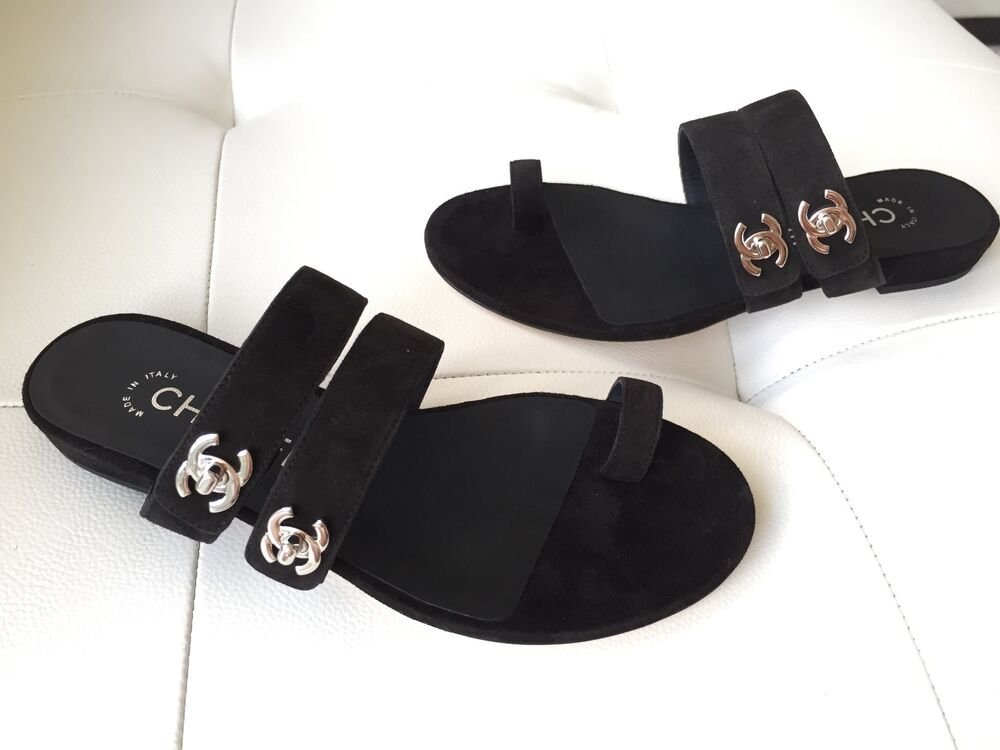 Chanel Canvas Leather Shoes