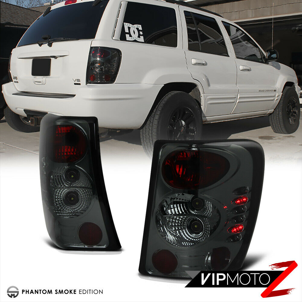 smoke left right 99 04 jeep grand cherokee laredo limited brake tail light led ebay. Black Bedroom Furniture Sets. Home Design Ideas