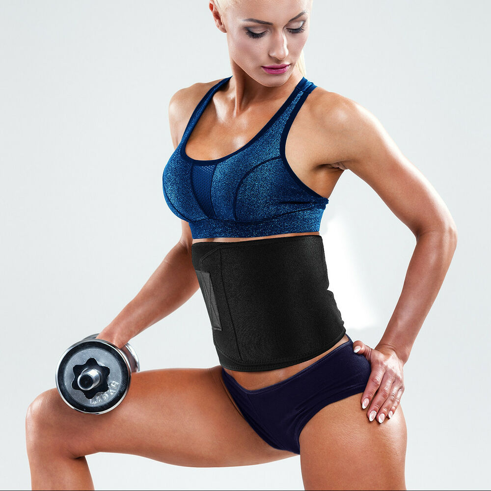 Waist Trimmer Belt Sweat Band Wrap Tummy Stomach Weight ...