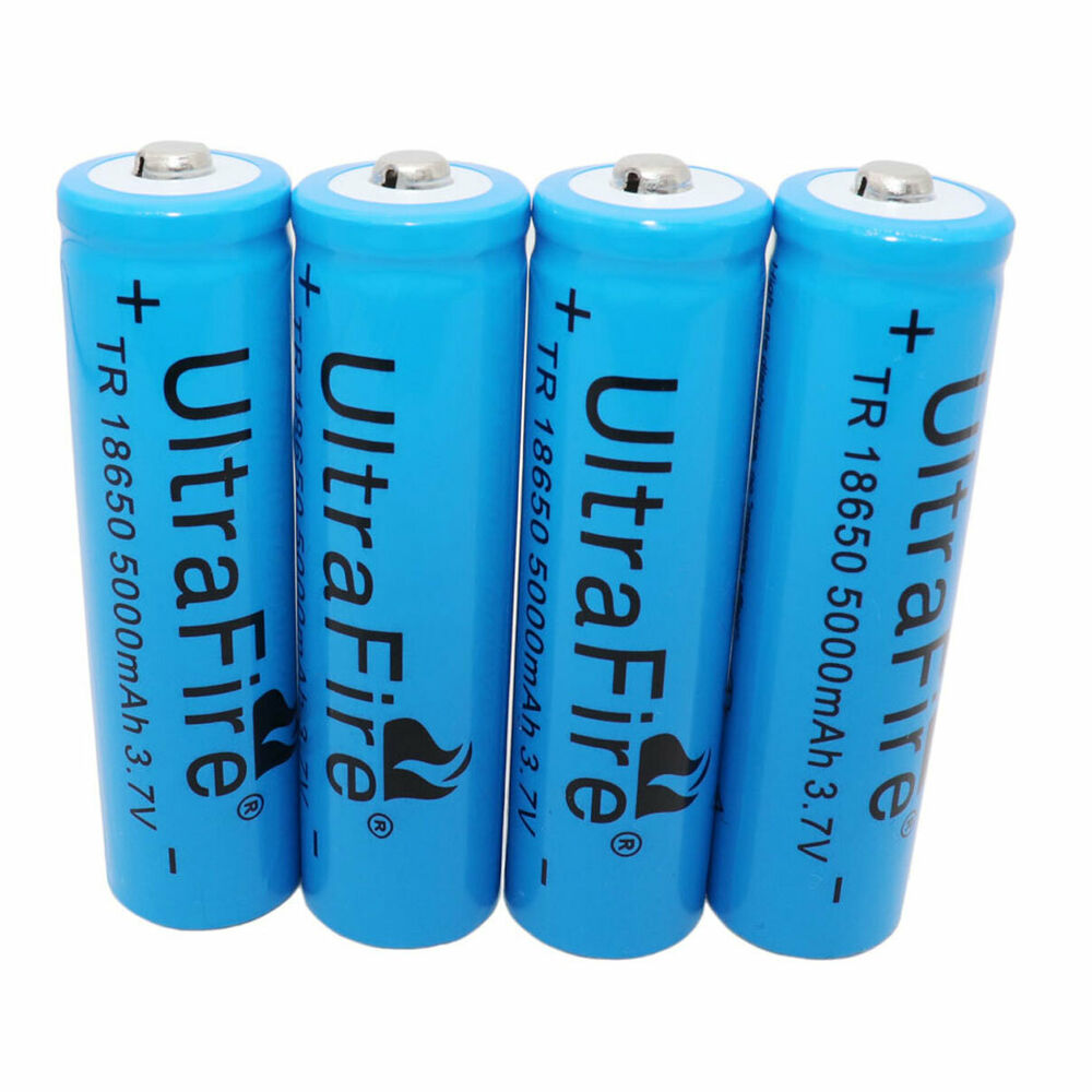 4x 18650 5000mah 3 7v li ion rechargeable battery for flashlight headlamp torch 730544031832 ebay. Black Bedroom Furniture Sets. Home Design Ideas