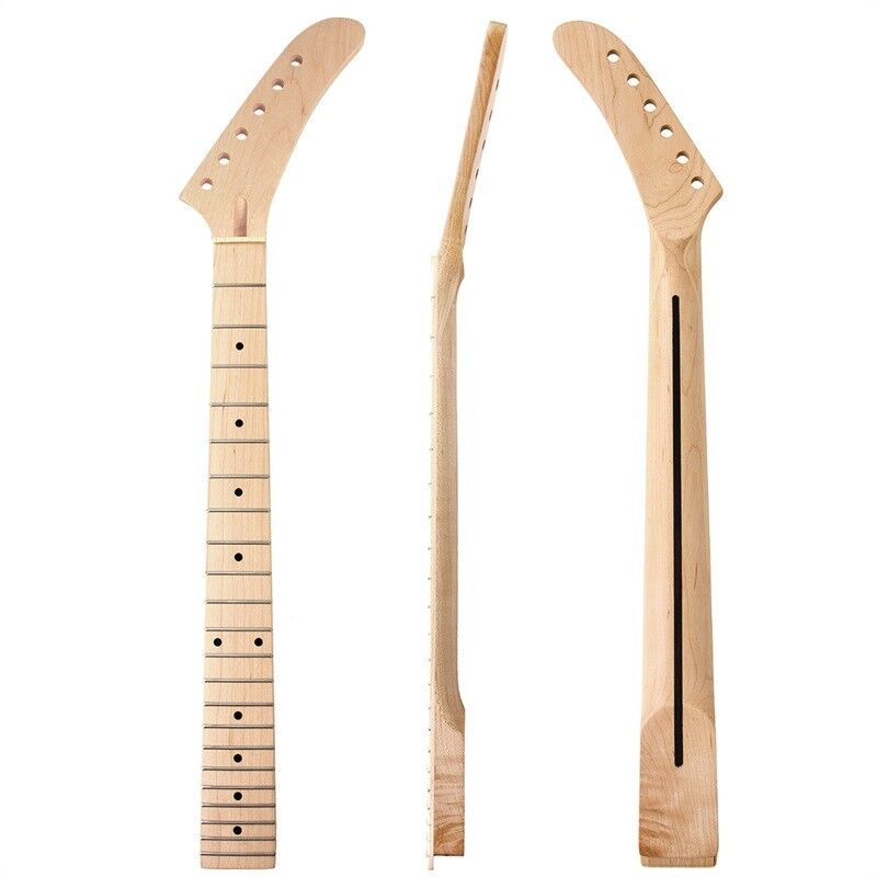 banana electric guitar neck dot inlay 22 fret maple for st parts replacement 634458647236 ebay. Black Bedroom Furniture Sets. Home Design Ideas