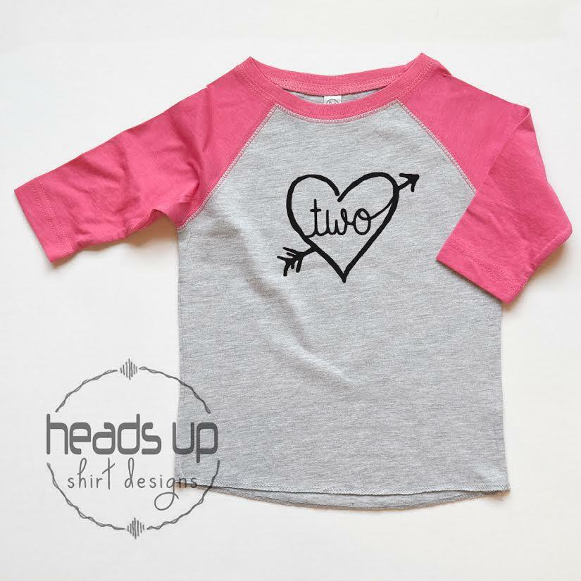 Details About Toddler Girl Two Birthday Raglan Shirt