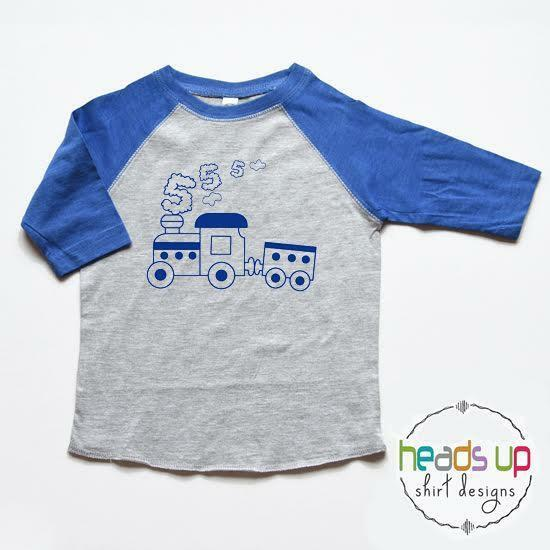 Details About 5 Birthday Shirt Train Fifth Bday Tshirt Boy Girl Five Trendy 5th Raglan Tee