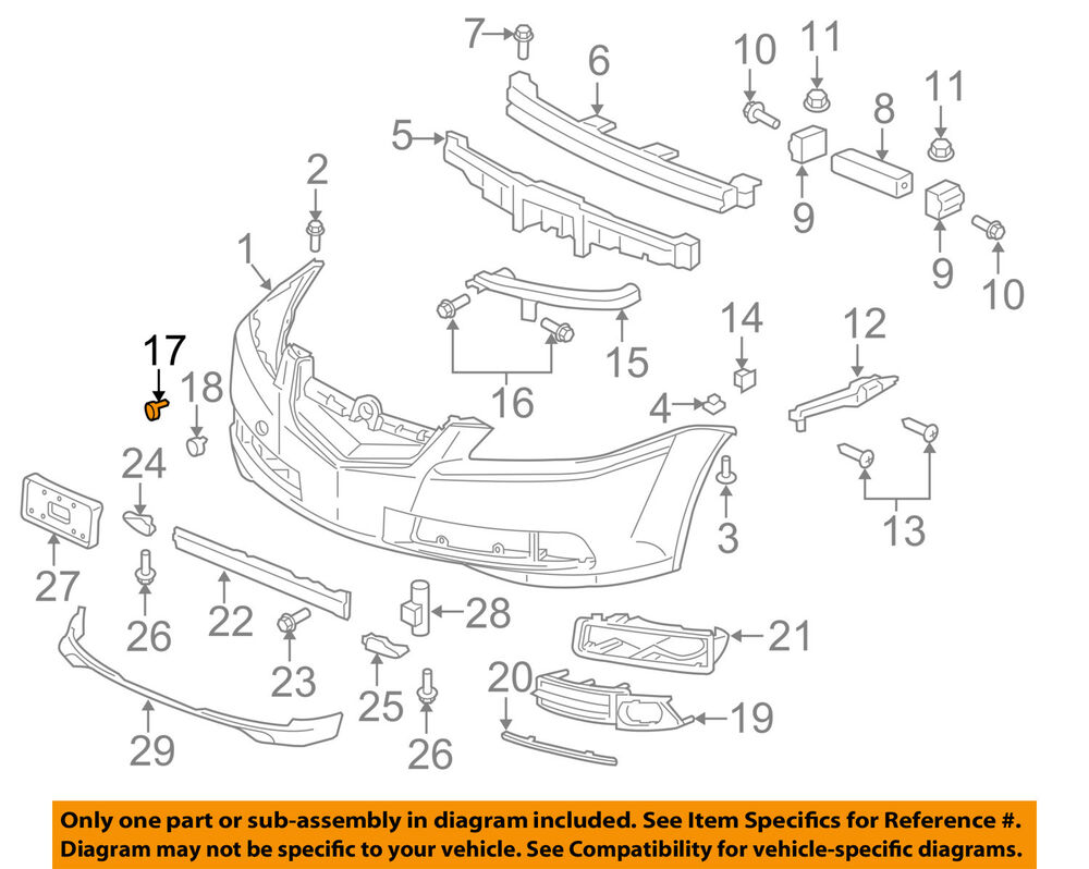 Acura Tl Front Bumper Diagram Find Wiring Diagram - 2003 acura tl front bumper