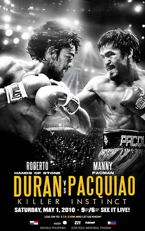Roberto Duran Vs Manny Pacquiao 8x10 Photo Boxing Poster Picture Ebay
