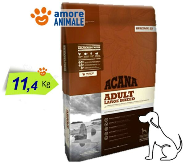 Acana Dog Heritage Adult Large Breed 11,4 Kg - Crocchette cani taglia grande