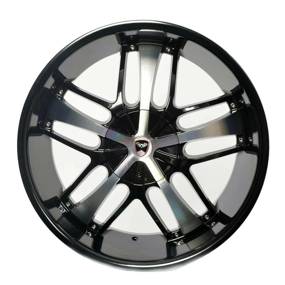 4 GWG Wheels 20 Inch Black Machined SAVANTI Rims Fits ET35