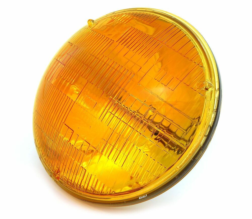 7 Quot Sealed Beam Motorcycle Headlight Amber Vintage Cafe