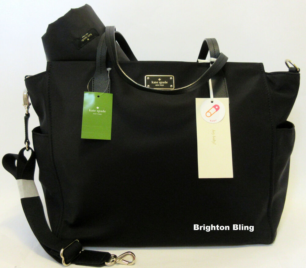 kate spade kaylie blake avenue baby diaper bag black multi function tote 349 ebay. Black Bedroom Furniture Sets. Home Design Ideas