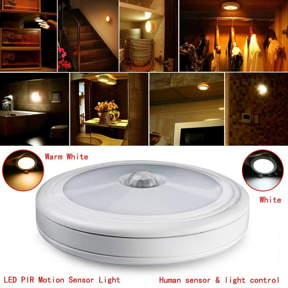 6led Wireless Pir Auto Sensor Motion Activated Cordless