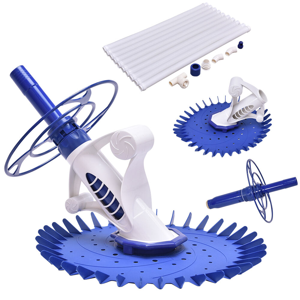 Automatic Swimming Pool Cleaner Set Clean Vacuum Inground Above Ground W 10 Hose Ebay
