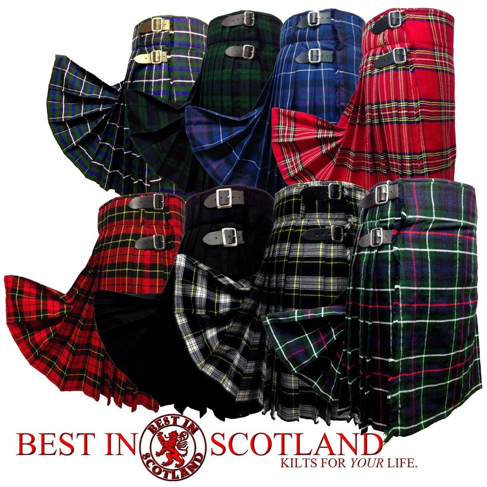 48dbbf428c4b Details about Scottish Kilt  Mens 5 Yard Casual Tartan Kilts Highland Dress