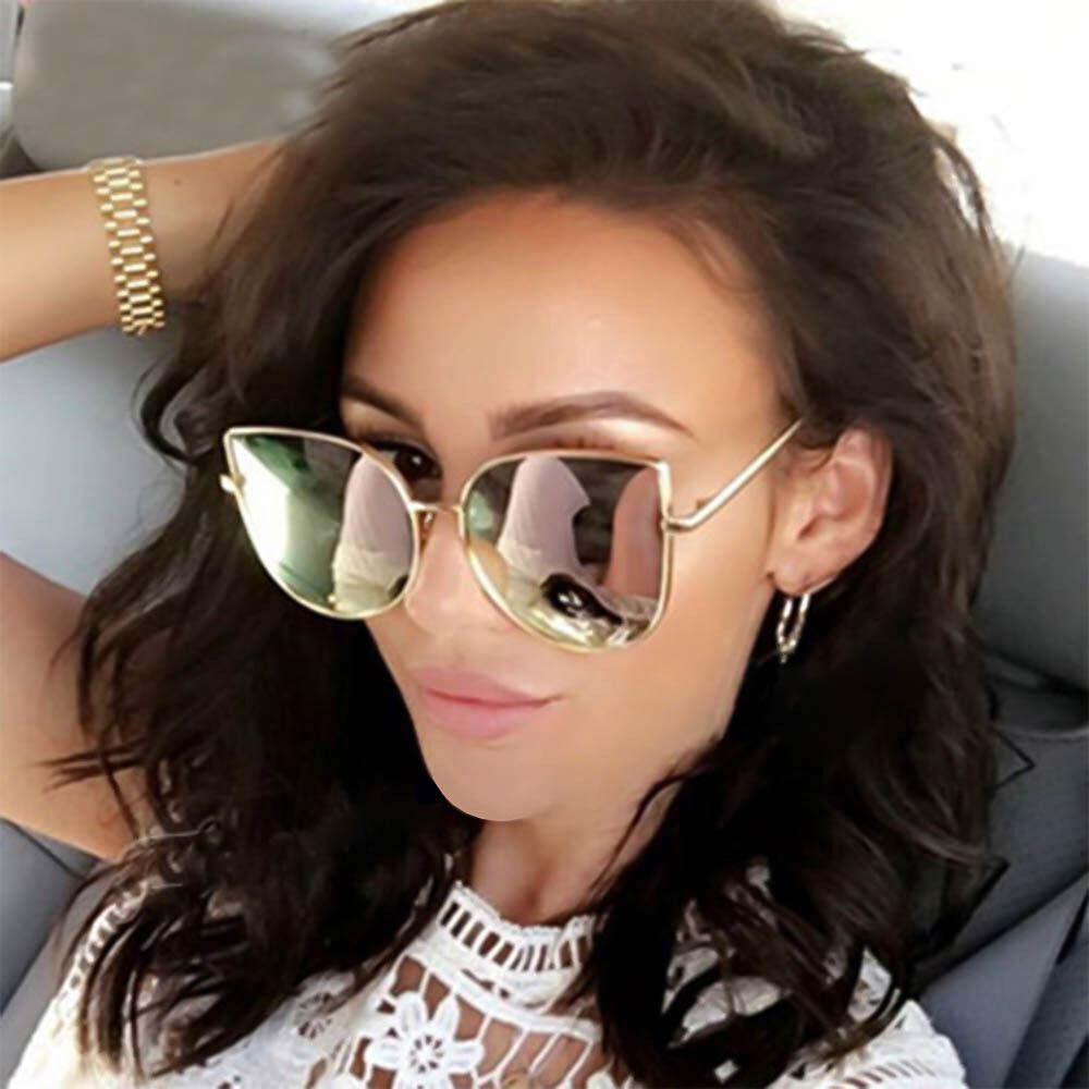611d3d32b833 Details about Womens Large Oversized Metal Frame Butterfly Shape Quality Fashion  Sunglasses