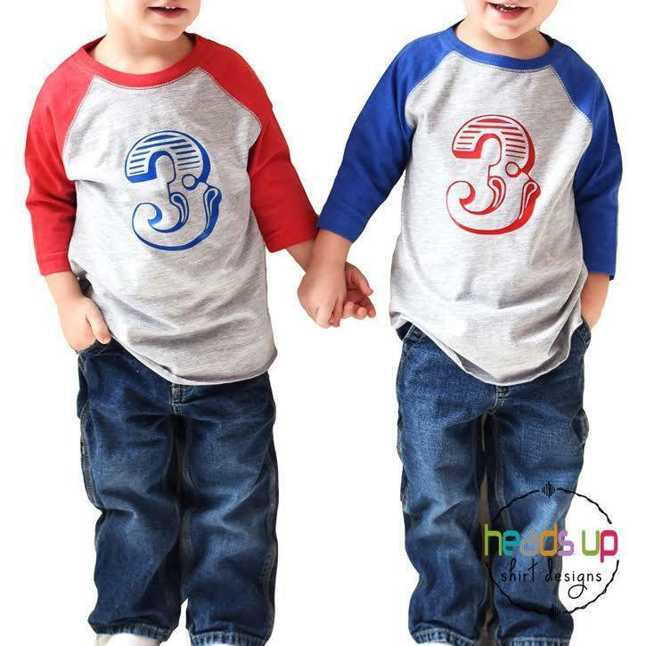Details About Twin Boys Girls 3rd Birthday Shirts Circus Carnival Party Three Third 3 Bday Tee